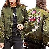 (ノーブランド品) アウター MA-1 ジャケット ジャンパー スカジャン レディース 刺繍 刺繍ジャケット ミリタリー ミリタリージャケット