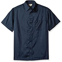 Haggar Men's Short Sleeve Microfiber Prints Woven Shirt