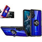 Huawei Honor 20 Case,360°Rotating Ring Kickstand Protective Case,TPU PC Shock Absorption Double Protection Cover Compatible w