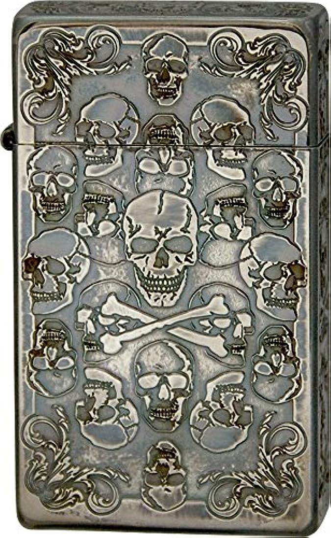 帰するミシン目意外SAROME(サロメ) ターボライター SRM Skull Collection B アンティークシルバー 791029