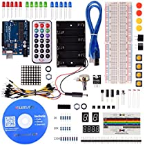 Kuman Arduinoに適用 Arduino mega UNO R3対応互換ボード プロジェクタキット 基本セット mega2560 Nano mega328 Arduinoをはじめ 実験用 Arduino sidekick basic kit K1