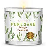 Pure White Sage Smudge Candle for House Energy Cleansing, Banishes Negative Energy I Purification and Chakra Healing - Natura