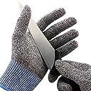 Hormon 防刃手袋 防刃グローブ 作業用手袋 作業グローブ カットガード 切れない手袋 耐切創レベル5 サイズ L (ブルー)