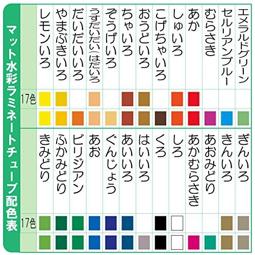サクラクレパス 絵の具 マット水彩 ラミネート 15色(金銀入) EMW15GS
