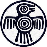 力の強さと勇気のアステカのシンボル刺繍入りアイロン貼り付け/縫い付けワッペン