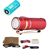 Olight S1R II Baton 1000 Lumen Compact Rechargeable LED Flashlight (Red, Limited Edition)