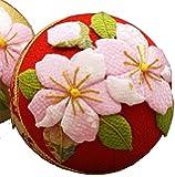 舞桜の手まり手作りキット(赤)