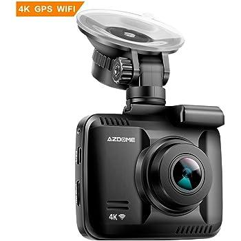 AZDOME ドライブレコーダー GPS/WiFi機能内蔵 150度高画質広視野角 1080PフルHD超高画素 1200万画素 ワイドダイナミック 小型ドライブレコーダー WDR 車載カメラ Gセンサー機能 ループ録画 緊急録画 防犯カメラ 駐車監視 動体検知 センサー+レンズ 1080P Full HD 超高画質 衝撃録画 高速起動 操作簡単