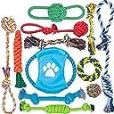 12 個 犬ロープおもちゃ 犬おもちゃ 犬用玩具 噛むおもちゃ ペット用 コットン ストレス解消 セット 丈夫 耐久性 清潔 歯磨き 小/中型犬に適用 …