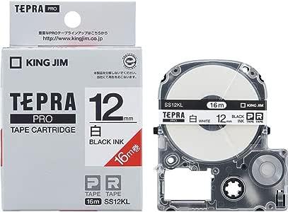 キングジム テープカートリッジ テプラPRO ロングタイプ 12mm SS12KL [並行輸入品]