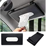 QianBao Car Tissue Holder, PU Leather Tissue Box, Hanging Paper Towel Clip, Sun Visor Napkin Holder, Car Visor Tissue Holder,