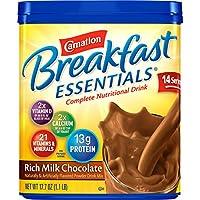 Carnation Breakfast ESSENTIALS Chocolate Powder, 17.7 Ounce Jar by Carnation Breakfast Essentials