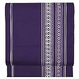 (キョウエツ) KYOETSU 日本製 八寸名古屋帯 京紫織 ストライプ 仕立て上がり 洗える KS6 (B.紫紺)