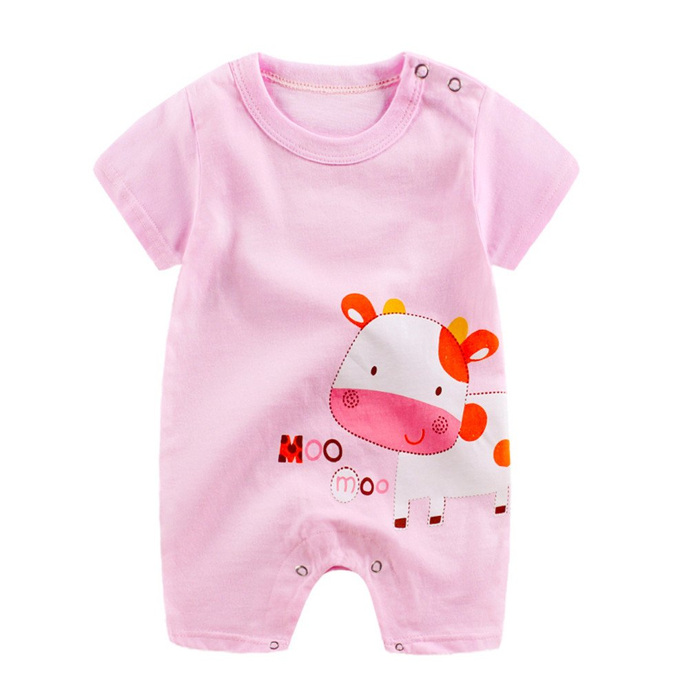 ee0773e691958 tovadoo Baby Rompers Short Sleeve Animal Pattern Summer Cotton Cute Fresh  Amusement Park Resort Travel Indoor Baby Gifts Newborn Girls Boys safety  pink