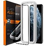 Spigen AlignMaster 全面保護 ガラスフィルム iPhone 11 Pro Max 用 ガイド枠付き iPhone11Pro Max 用 保護 フィルム フルカバー 1枚入