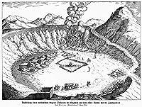 フィグレイズの野原地での アルカサミヤポズオリ 1719 Ncampy(カンピ・フレグリー) 火山地区近くにある火山系図 Puzzuoli シチリアライン 彫刻 1719 ポスタープリント(24 x 36)