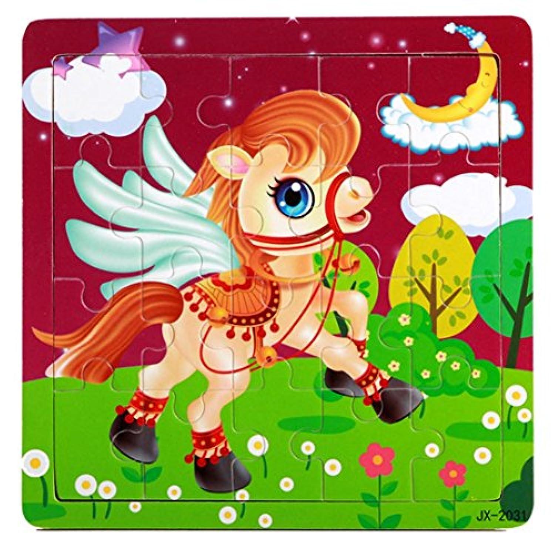 Fineser ( TM )木製馬パズル教育Developmental Baby子供用トレーニングおもちゃ