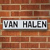 ヴィンテージパーツUSA vpay1?a27?van HalenホワイトStamped Street Sign mancave壁アート