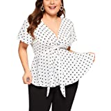 Nihsatin Women's Plus Size Lace up Ribbed Tops Casual T-Shirts Gothic Corset Top