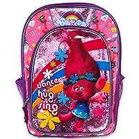 """DreamWorks Trolls Backpack for Girls Bundle ~ Deluxe 16"""" Trolls Backpack Featuring Poppy (Trolls School Supplies)"""
