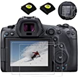 EOS R5 Top+LCD Screen Protector for Canon EOS R5 Full-Frame Mirrorless Camera & Hot Shoe Cover [2Sets], Fire Rock Ultra-Clear
