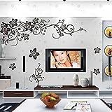 ZooArts 花とつる 装飾 芸術 絵 黒いぶどう ぶどうの木 蝶 バタフライ 取り外し可能な ウォールステッカー 壁デカール 壁紙 壁の装飾