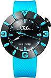 I.T.A. アイティーエー 腕時計 ディスコボランテ ドーム型ガラス メンズ レディース ターコイズ/ブラック ラバー DISCO VOLANTE Ref.31.00.04【国内正規品】