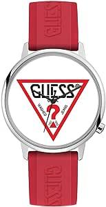 Guess Originals レッドロゴ腕時計 シルバートーン
