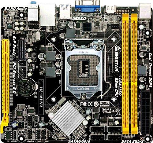 BIOSTAR Intel H81チップセット搭載 LGA1150 Micro ATXマザーボード H81MHV3 R07