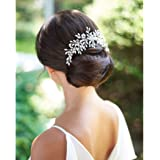 Catery Bride Wedding Hair Comb Hair Accessories with Crystal Bridal Side Combs Headpiece for Women