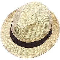 折りたたみ OK UVカット 中折れ ゴルフ ハット ストローハット 帽子 (ナチュラル72, L)