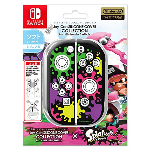 Joy-Con SILICONE COVER COLLECTION for Nintendo Switch (splatoon2)Type-A【カバー色:ブラック】 任天堂公式ライセンス商品