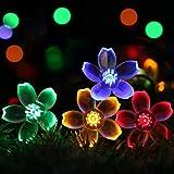 Cshare LED ソーラー ストリングライト LED イルミネーションライト 50LED 7M ソーラーライト 屋外 ガーランドライト キャンプ ライト IP65防水 8モード 夜間自動点灯 クリスマス/ハロウィン/パーティー/バレンタインデー/