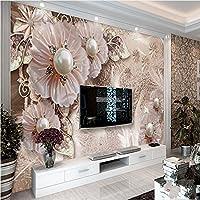 Sproud 大規模なカスタム壁紙洗練された豪華な宝石類の花リビングルームベッドルームソファ Tv の背景の壁 430 Cmx 300 Cm