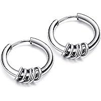【セイヤインターナショナル】ピアス メンズ レディース 5連リング リング フープピアス フープ 両耳セット (10mm…