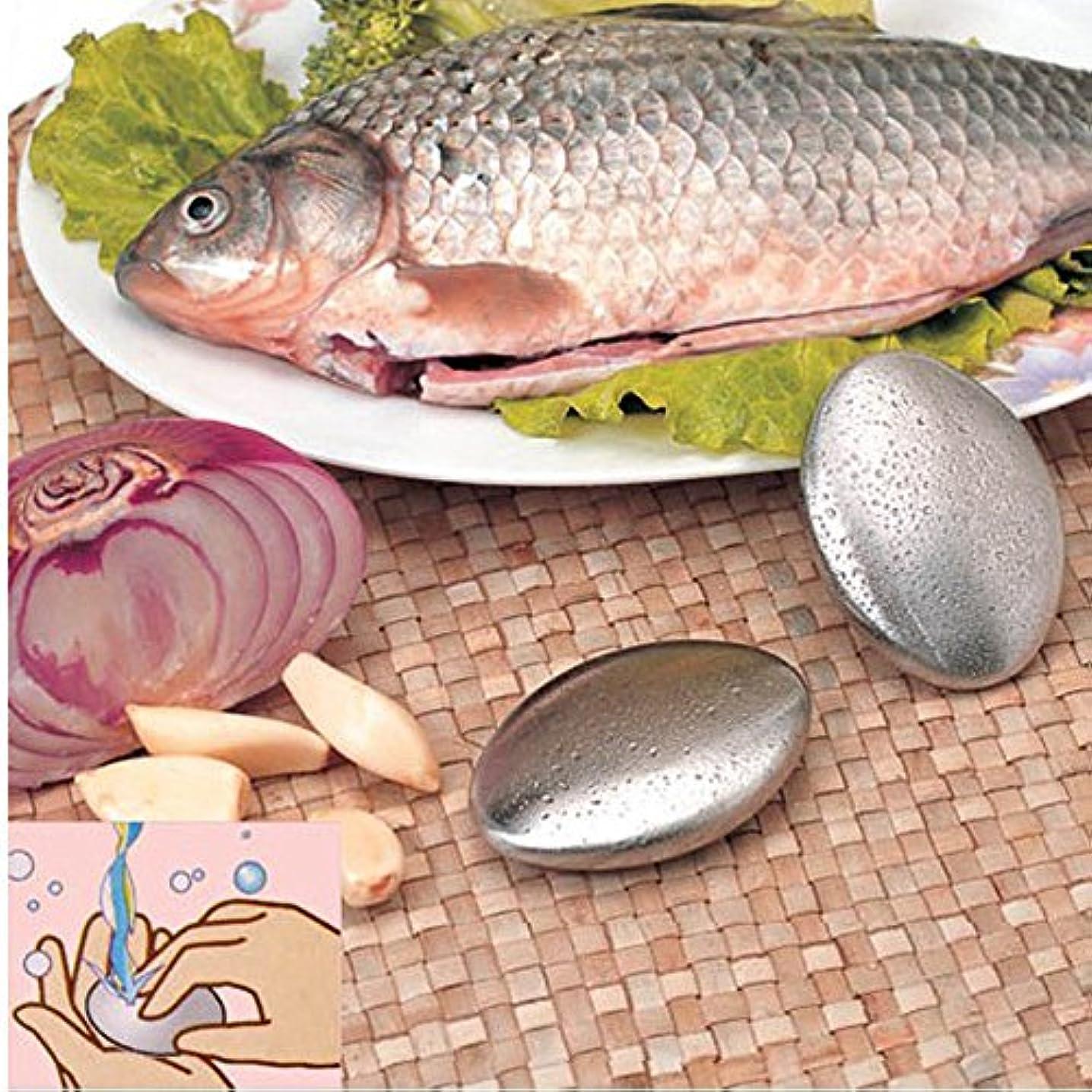 zlianhui のステンレス鋼の石鹸、臭気の除去剤のステンレス鋼の石鹸の台所棒は石鹸箱が付いている臭気の除去剤を除去します
