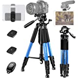 ZOMEI 55 Compact Light Weight Travel Portable Folding SLR Camera Tripod for Canon Nikon Sony DSLR Camera Video with Carry Cas