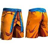 Bublanwo ドラゴンボール トレーニング ハーフパンツ ロングパンツ メンズ スポーツ トレーニング ハーフパンツ 吸汗性 透湿性 速乾性 アウトドア 半ズボン