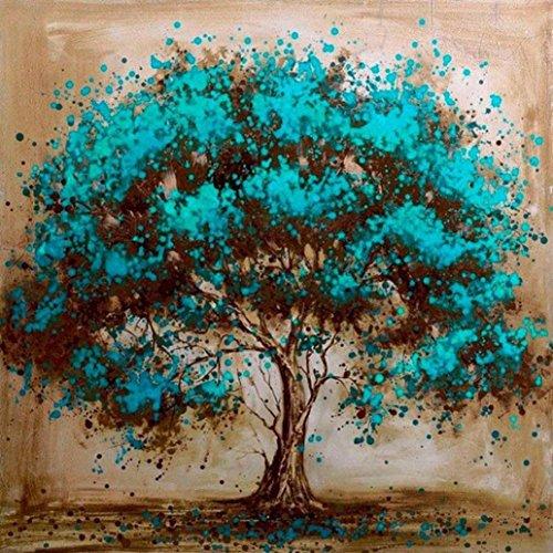 5D Diamond Painting, Meisjun DIY Diamond Tree Embroidery Rhinestone Painting Cross Stitch Stamped Kits by Number Kits Art Home Wall Decor (Green)