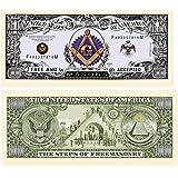 American Art Classics Freemason - Masonic Million Dollar Bill - Limited Edition Collectible Novelty Dollar Bill in Currency Holder Protector - Best Gift Or Keepsake for Masons