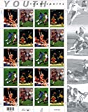 Youth Team Sports, Full Sheet of 20 x 33-Cent Postage Stamps, USA 2000, Scott 3399-3402 by US Postal Service [並行輸入品]