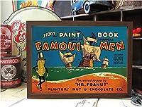 木製フレーム付きポスター(Mサイズ B4) H27.5xW38cm インテリアに大活躍 アメリカン雑貨 並行輸入 【PFM087】