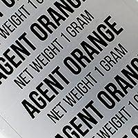 100エージェントオレンジ医療マリファナステッカーby粉砕ラベルRX Strain Flavors for 0.5Gと1.0G sts-015 1 Gram シルバー