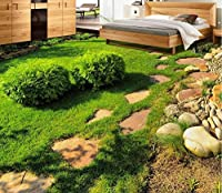 lhdlily 3d床Wallpapers Fresh Green Grass Plant立体視3dリビングルームベッドルーム床タイルPVC壁紙床 LHDLily-561616981-14133