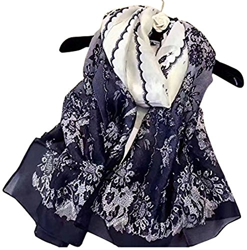 K-Elewon scarf stall ladies silk shawl large-format thin muffler cooling measures sunscreen seaside trip for commuters