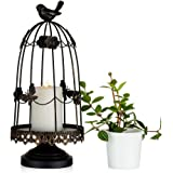 Sziqiqi Decorative Bird Cage Candleholder for Antique Decor, Fit for Flowers Planter Candles Garland Cupcake Display for Wedd