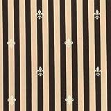 有輪商店 YUWA 綿麻 生地 フルール・ド・リス 全6色 50cm単位販売 (ブラウン×ピンクベージュ)