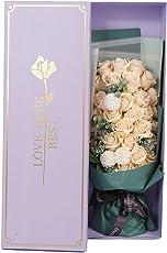 REEMONDE ソープフラワー バラ 花束 枯れない花 創意ギフト ブーケ メッセージカード付き インテリア バレンタインデー クリスマス 母の日 誕生日 祝い 昇進 記念日 転居等 33本
