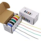StrivedayTMFlexible Silicone Wire 24awg Electric wire 24 gauge Coper Hook Up Wire 300V Cables electronic stranded wire cable