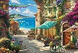 1000ピース ジグソーパズル シチリアの花咲くカフェ(49×72cm)